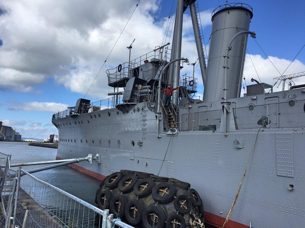 HMS CAROLINE - & THOMPSON DOCK