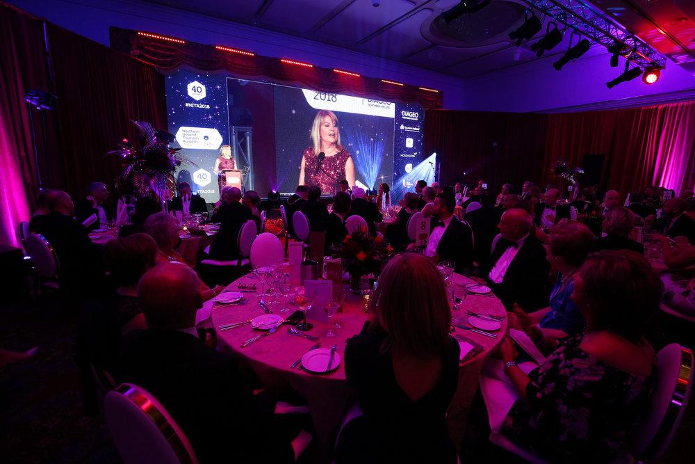 Celebrating local tourism at last year's Northern Ireland Tourism Awards