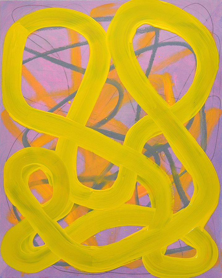 """Gravitron"", 2015, oil and graphite on linen, 40 x 32 inches"