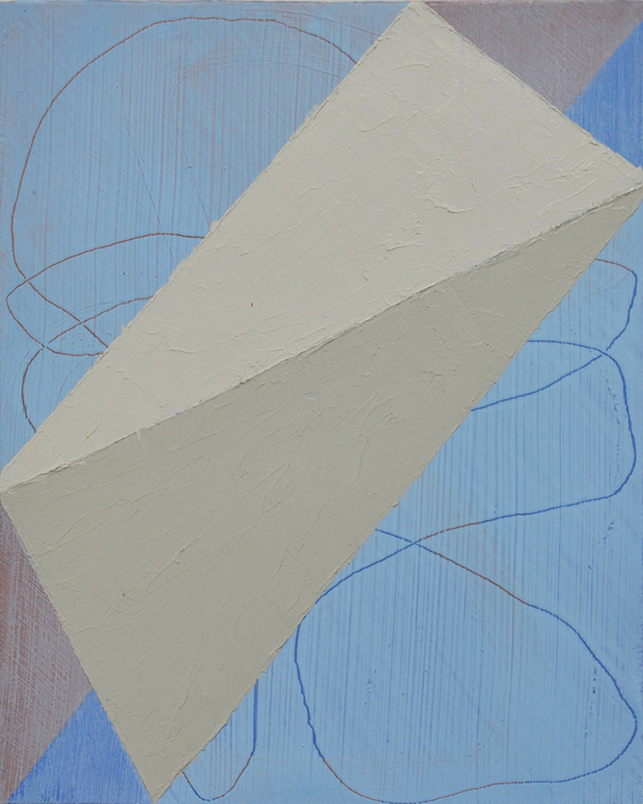 """Wedge"", 2015, oil and graphite on linen over panel, 11 x 9 inches"