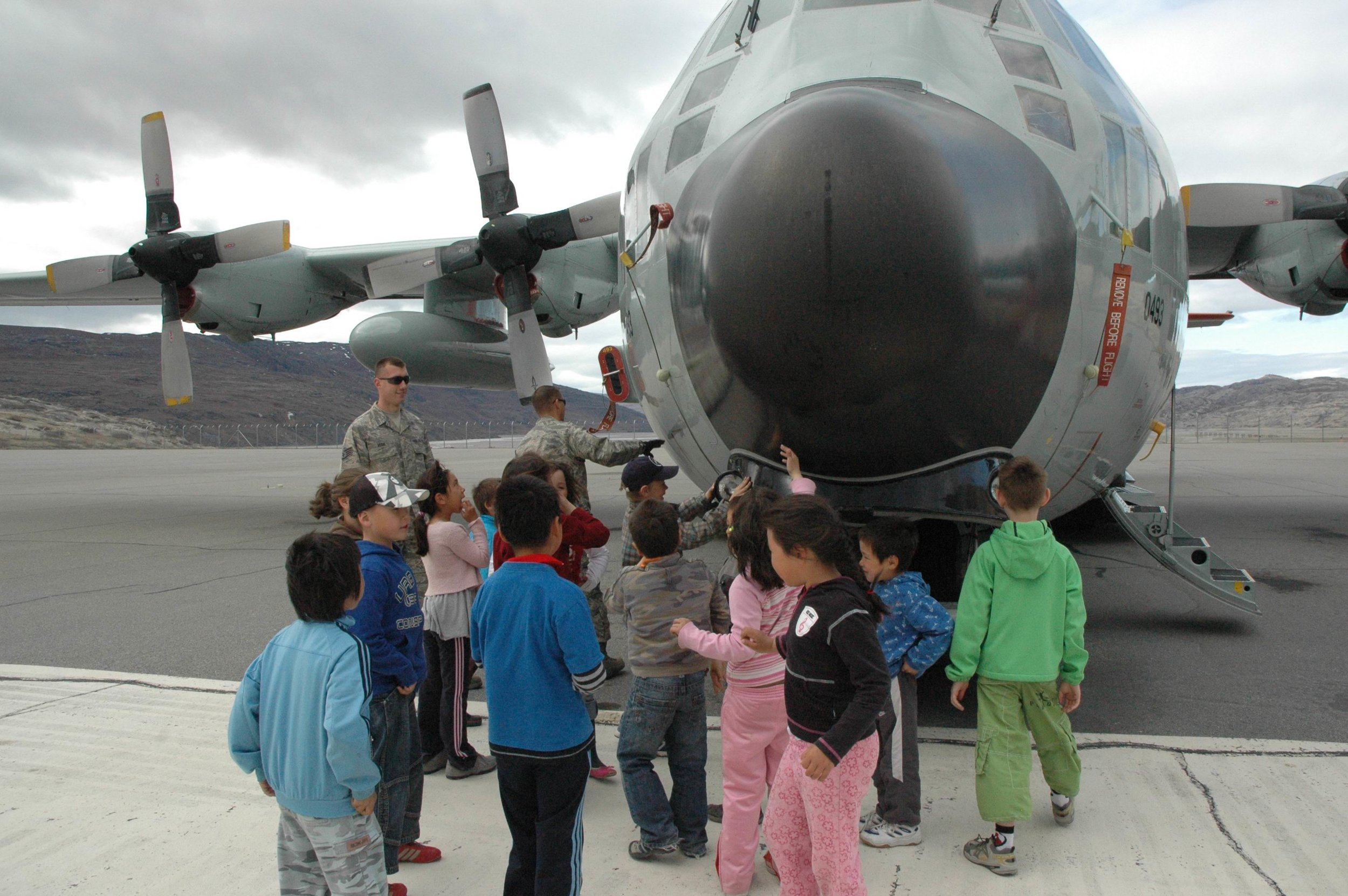 Even the C-130 appears to be having a great time! Photos: Lt Col Matt LeClair