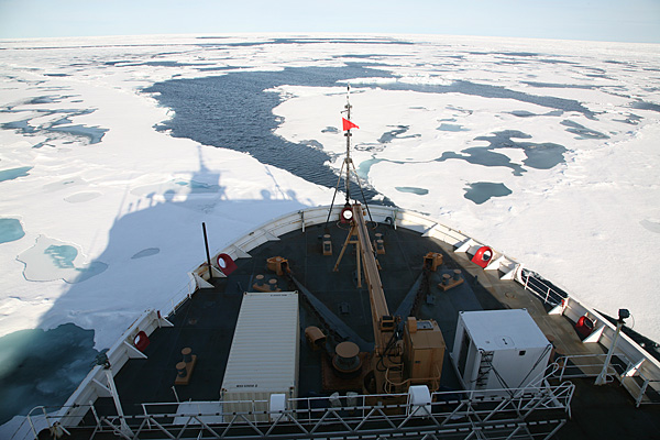 The US Coast Guard icebreaker Healy cuts through one of the least known areas of the world--the Arctic. Source: NOAA