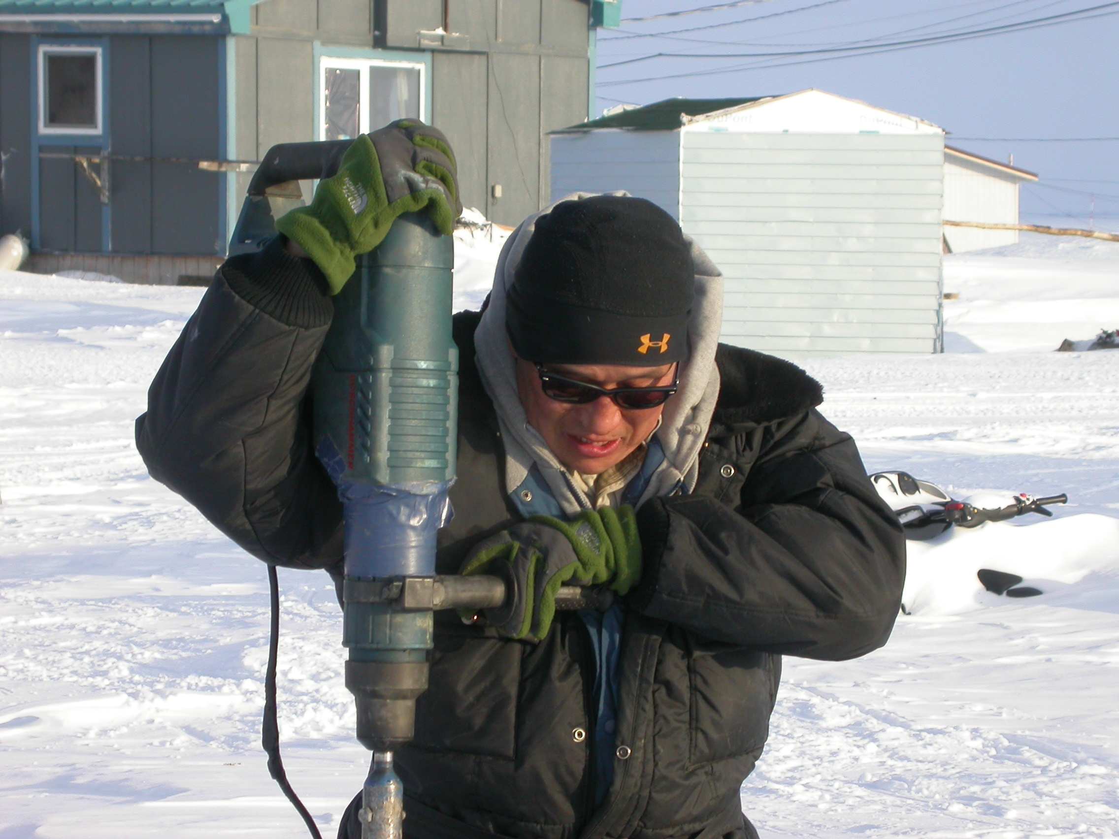 Don't tell anyone, but this mild-mannered, permafrost-drilling scientist is actually Tunnel Man!