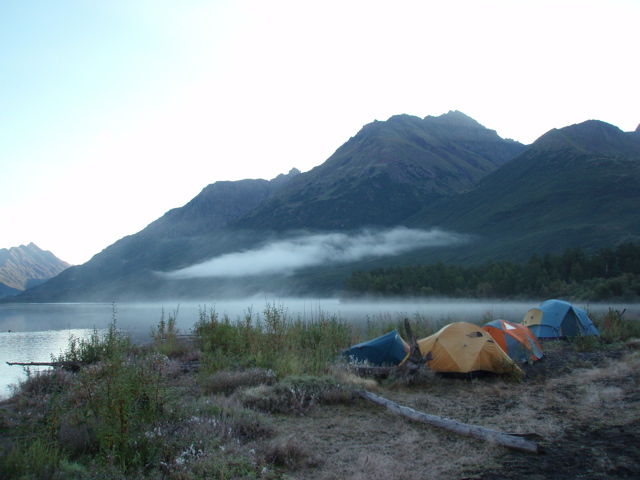 This is why you should do your science homework: a Kaufman research camp at Upper Togiak Lake, Alaska, in 2007. Photo from Kaufman gallery