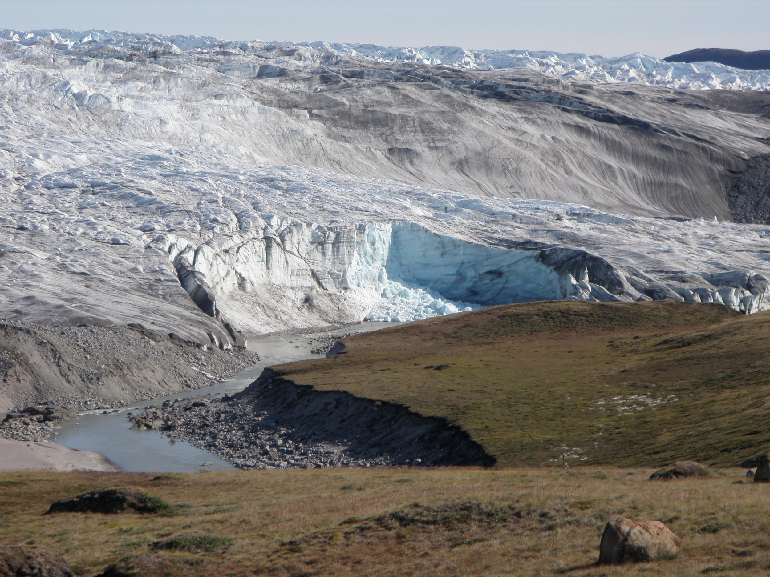 The Greenland ice sheet begins. Photo Simone Whitecloud.