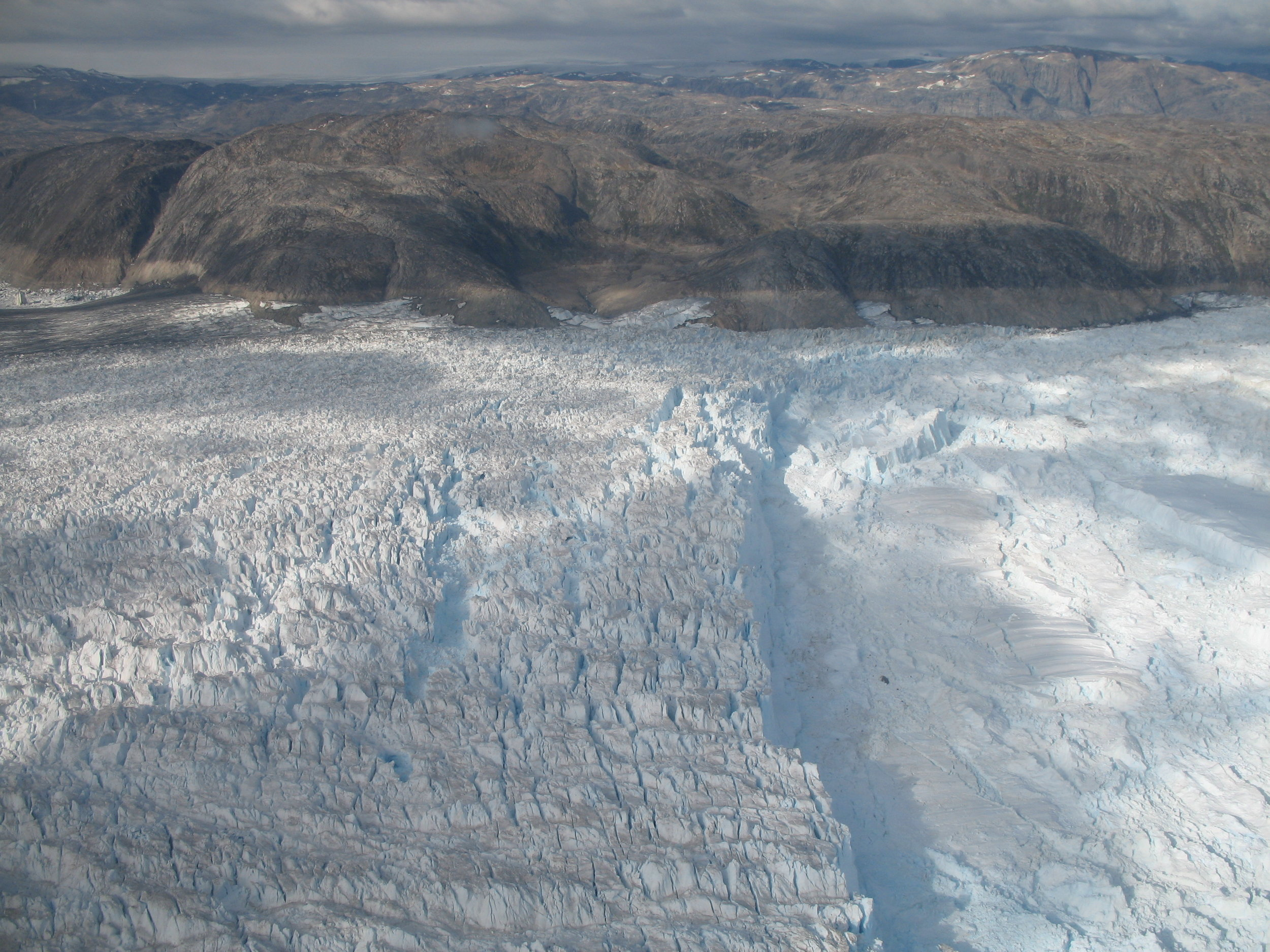 The front of the Helheim Glacier. Photo:Gordon Hamilton
