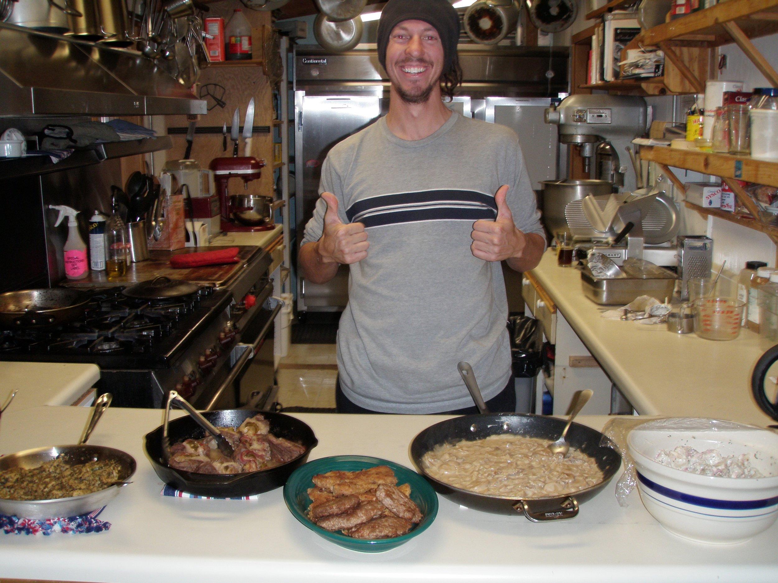 """At Summit they call it """"Bradtoberfest."""" Brad Whelchel honed his Bavarian culinary skills for Oktoberfest at Summit. Photo:"""