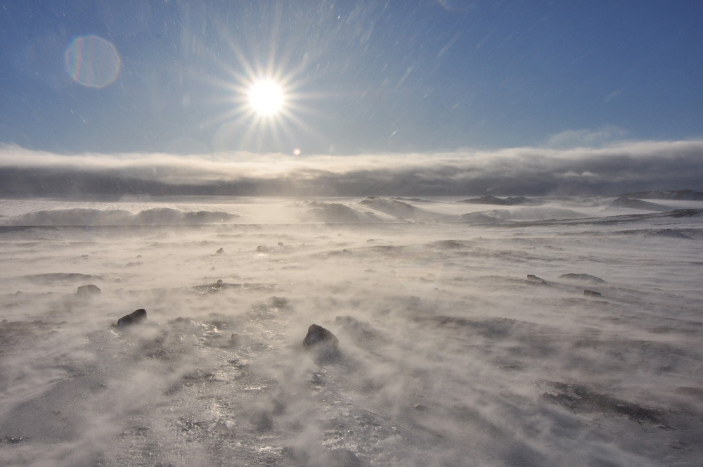 Wind off the icecap