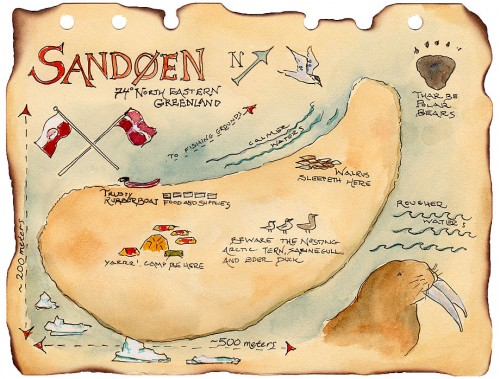 Sand Island Treasure Map
