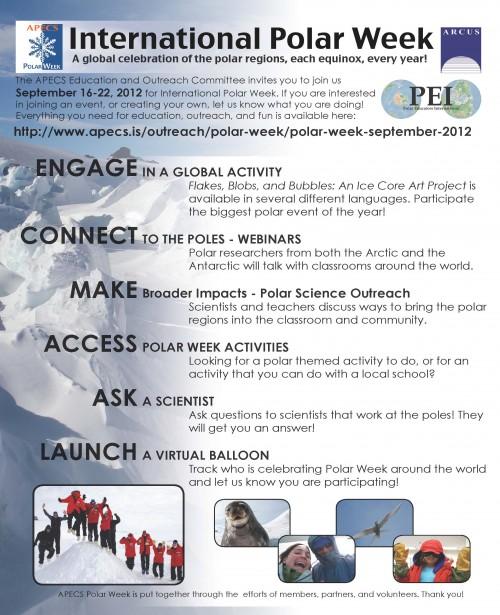 Polar Week Flier - Fall 2012