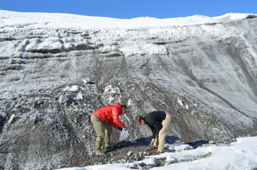 Removing sediment from the ice margin