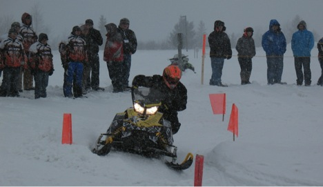 A little snow did not hamper the objective handling event on Saturday.