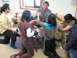 Ken Dunton and students in Kaktovik. All images courtesy Ken Dunton