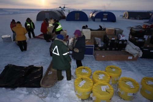 Conducting field work at the North Pole requires a lot of cargo.