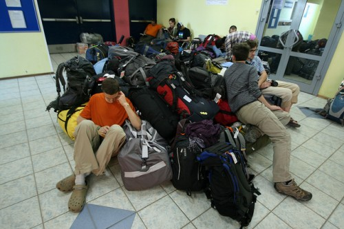 Transporting 33 students and researchers to remote regions of Russia is a big undertaking …. and requires a lot of gear!