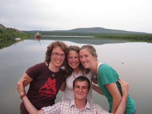 Vonk with Polaris Project undergraduate students in 2010. Photo: Jorien Vonk
