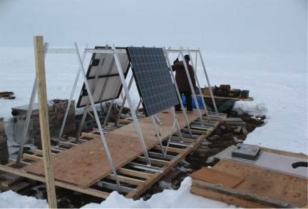 The solar array system will harvest solar power 20 hours a day in the high arctic summer.