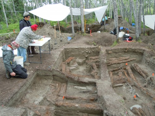 Brown University archeologist is studying trade dynamics of native Alaskans in the Kobuk River region of northwest Alaska. All photos courtesy Doug Anderson