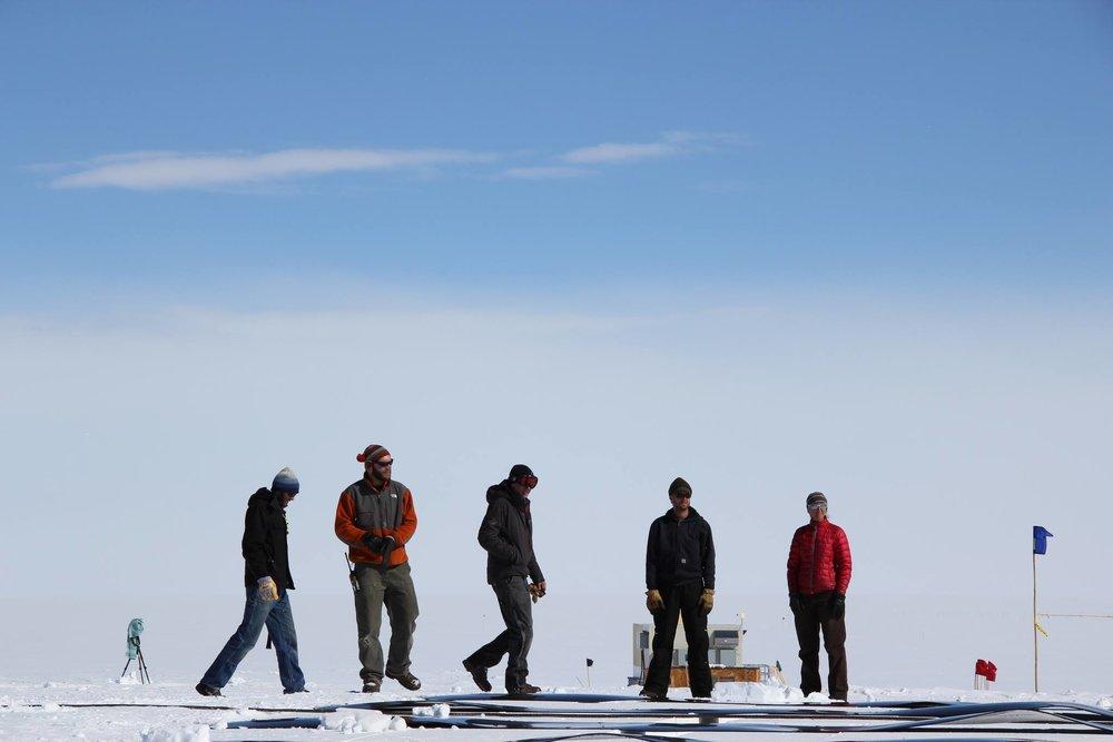 Summit construction crew (L-R): Nick Romano, Brandon Burmeister, Nathan Bowker, Ian McEwan, Katie Hess. Photo: Brandon Burmeister