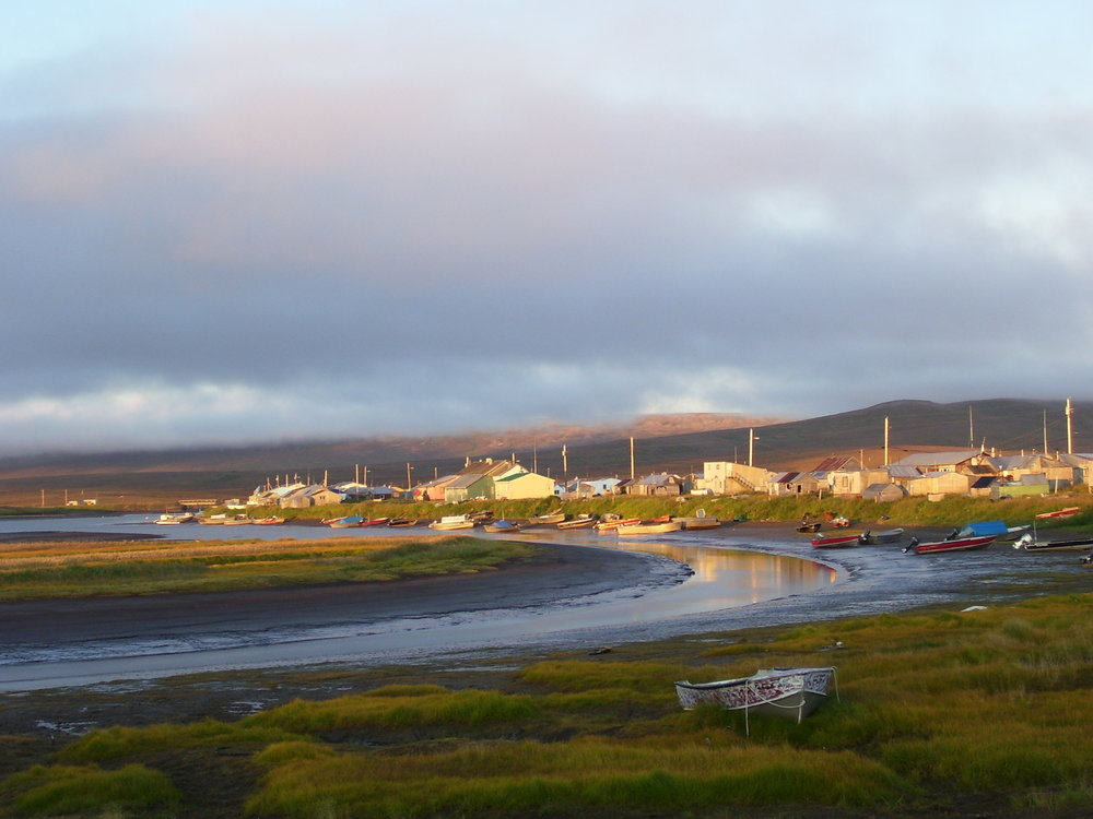Frink and Giordano's research takes place in Tununak, Alaska on Nelson Island. Photo: Celeste Giordano