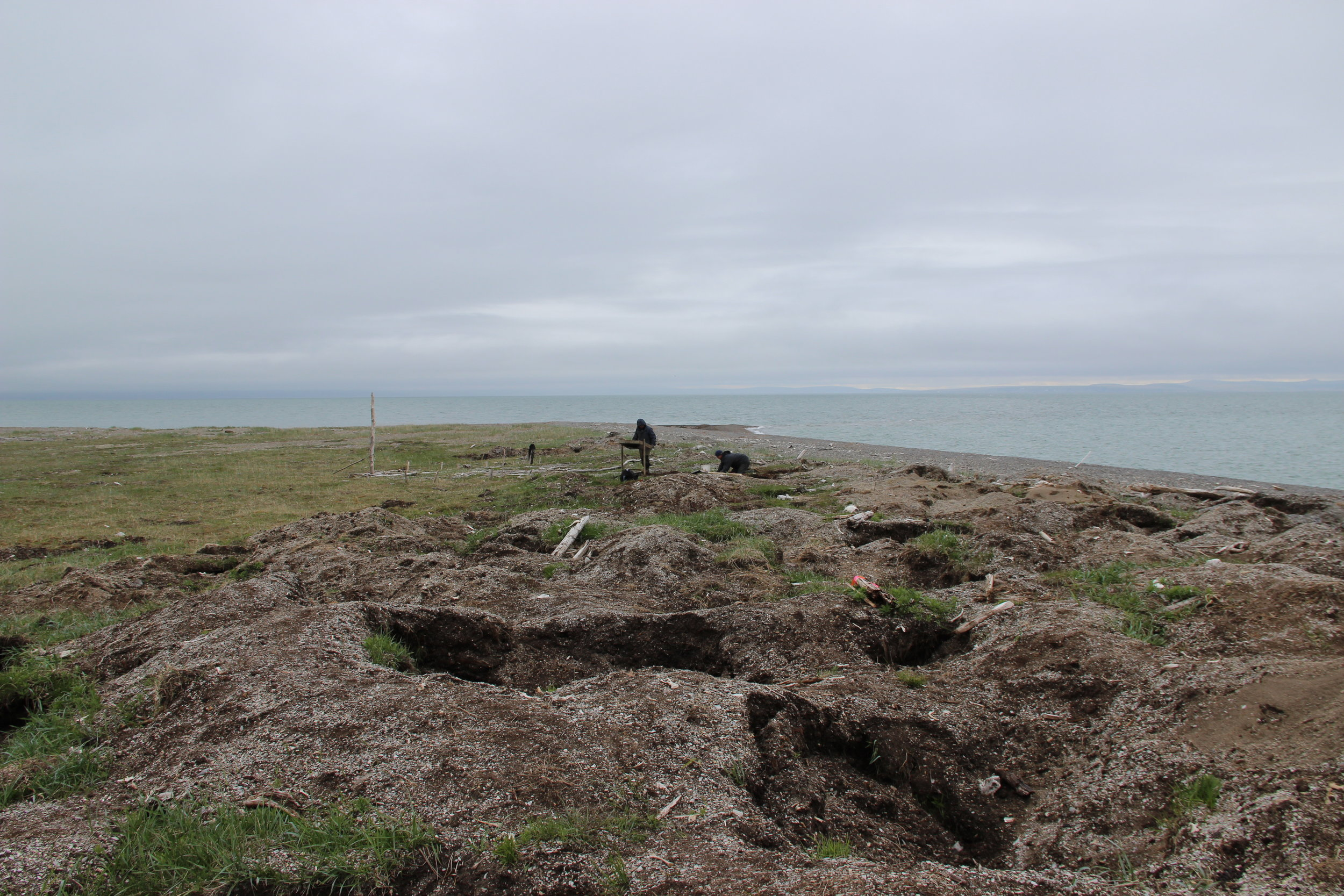 The landscape looks desolate, but it was once home to thriving native populations. Anderson and her team are working to piece together an archaeological history of the area.