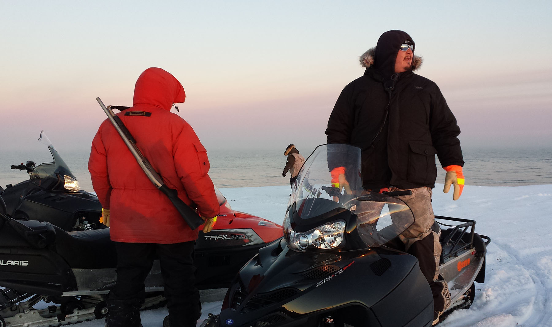UMIAQ Bear Guards accompany Barrow-based researchers into the field to mitigate potential polar bear threats. All photos courtesy UMIAQ