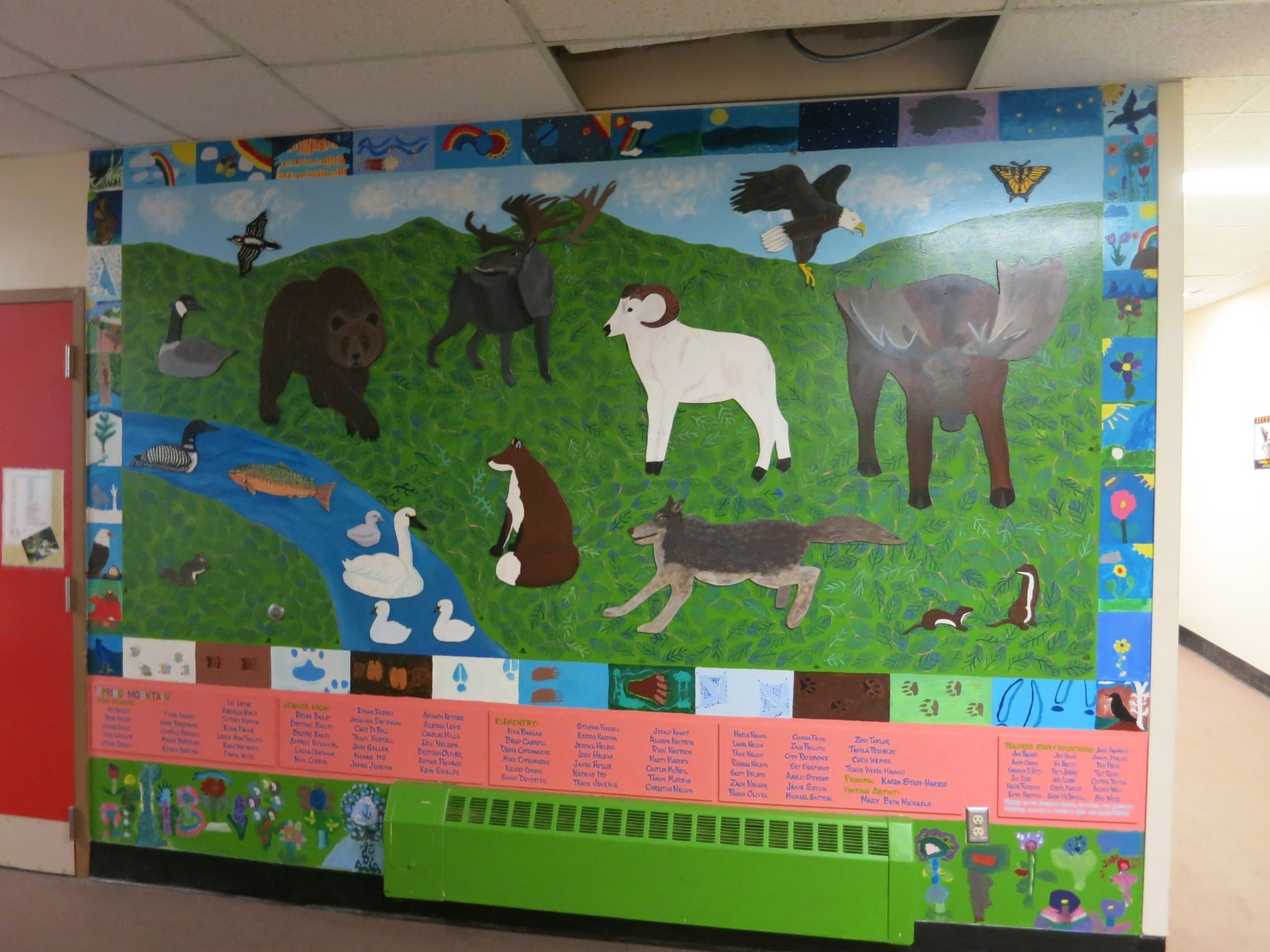A mural in one of the rural schools where Ute Kaden is doing her research is very colorful. All photos: courtesy Ute Kaden.