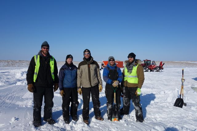 The 2014 Geenland Inland Traverse team (L-R):  Erik Lund, Pat Smith, Robin Davies, Galen Dossin, Ben Toth.