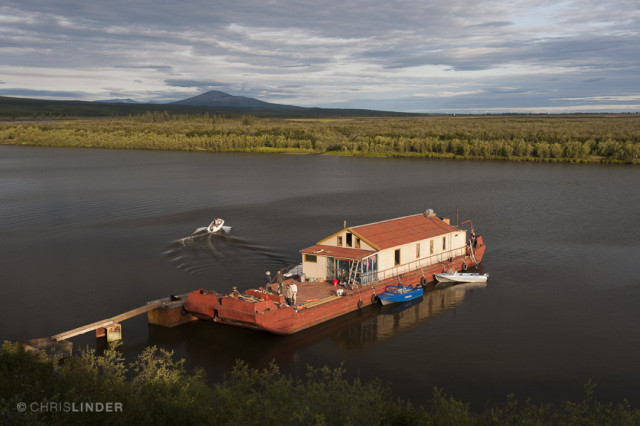 Zimov's barge at Cherskiy sleeps 20 people, and is the home of the Polaris Project students and faculty during the summer. All photos: Chris Linder