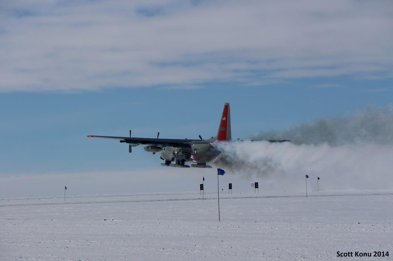One of the first flights of the season takes off on Thursday May 8. Photo: Scott Konu