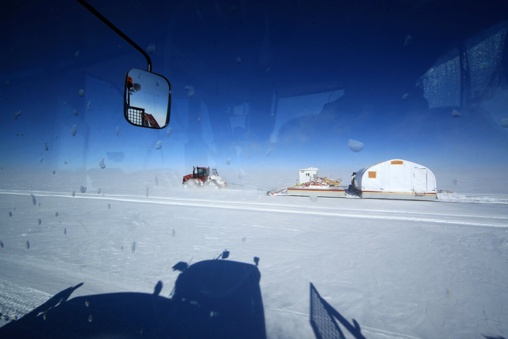 Traffic's not too bad in this 2012 image taken at Summit Station upon the GrIT team's arrival. Photos: Ed Stockard