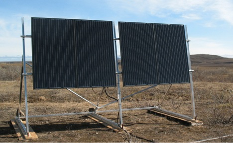 New array from the front. To a solar geek, it is a beautiful thing.