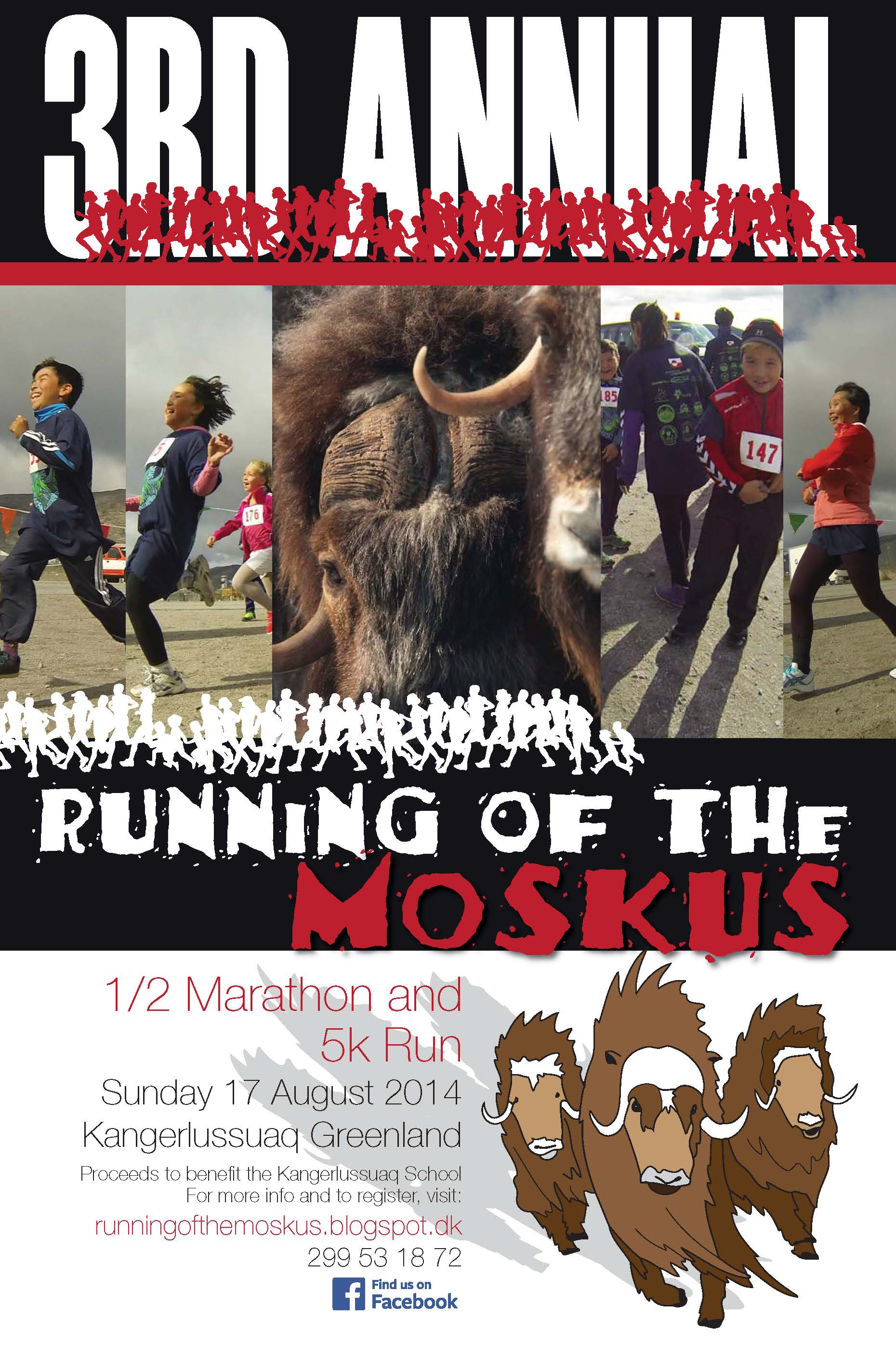 The 2014 Running of the Moskus poster features original art by Mimi Fujino.