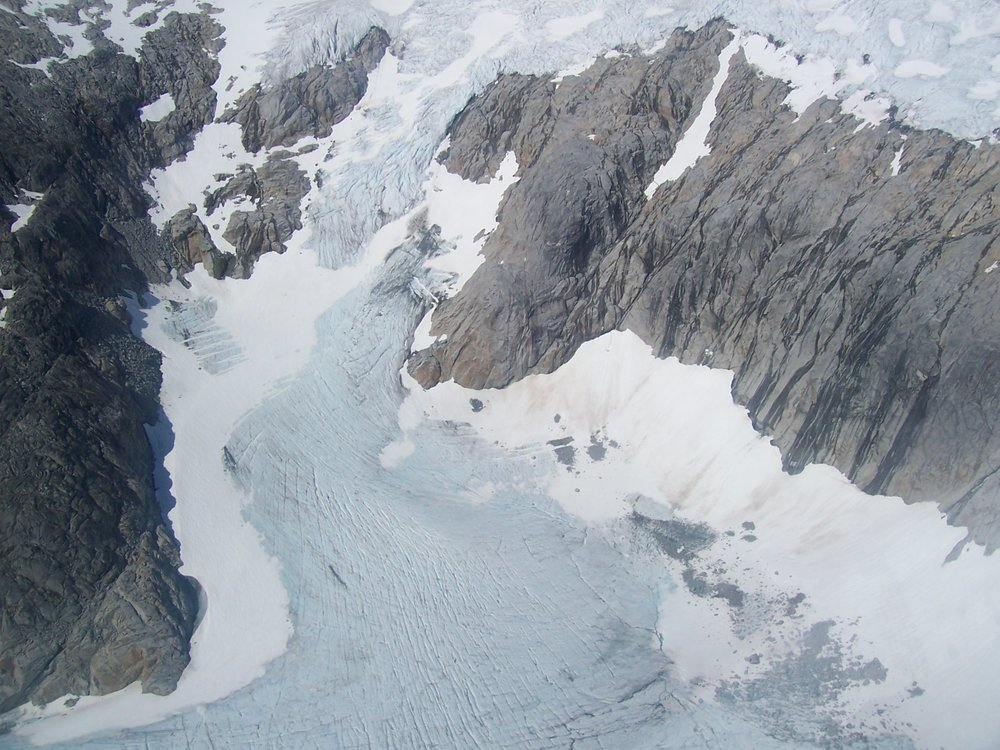 The Taku Glacier, located on the Juneau Icefield, is one of the few advancing Alaskan glaciers. Glaciologist Martin Truffer, University of Alaska, Fairbanks, is leading a study of the Taku to better understand glacial dynamics. Photo: Wikipedia