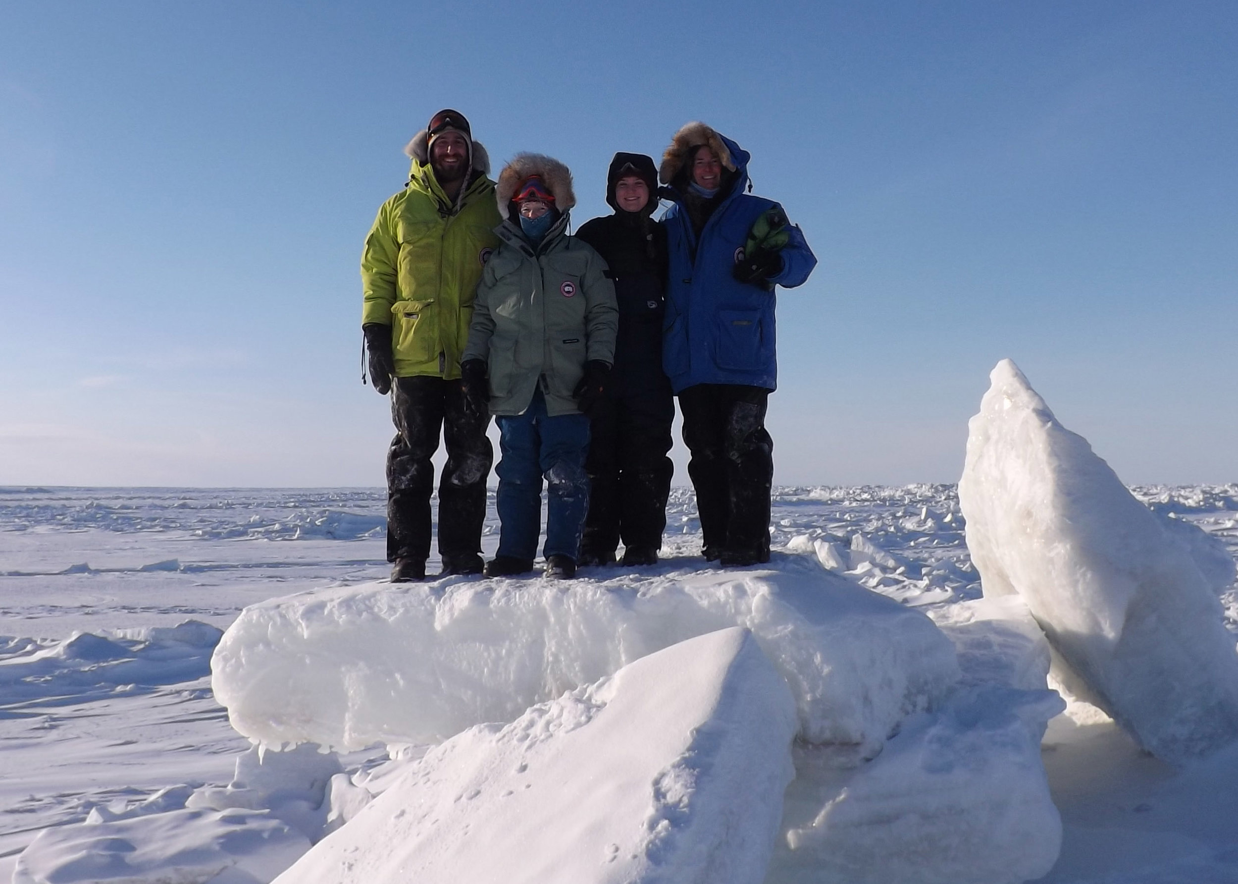 Team ICE-MITT in the field in Barrow, Alaska. All photos courtesy: The IceMITT project