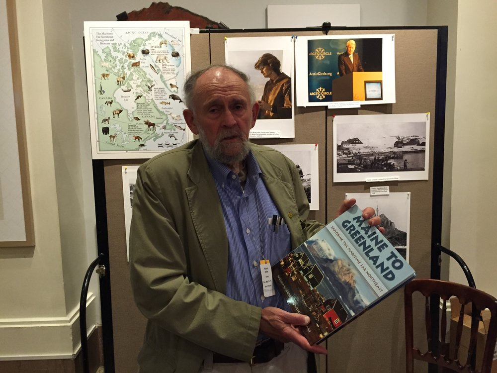 The halls of the Smithsonian were filled with dozens of Arctic experts, including photographer Wilfred E. Richard (pictured here). Richard was at the festival to discuss Maine to Greenland, a book he co-authored with anthropologist William W. Fitzhugh.