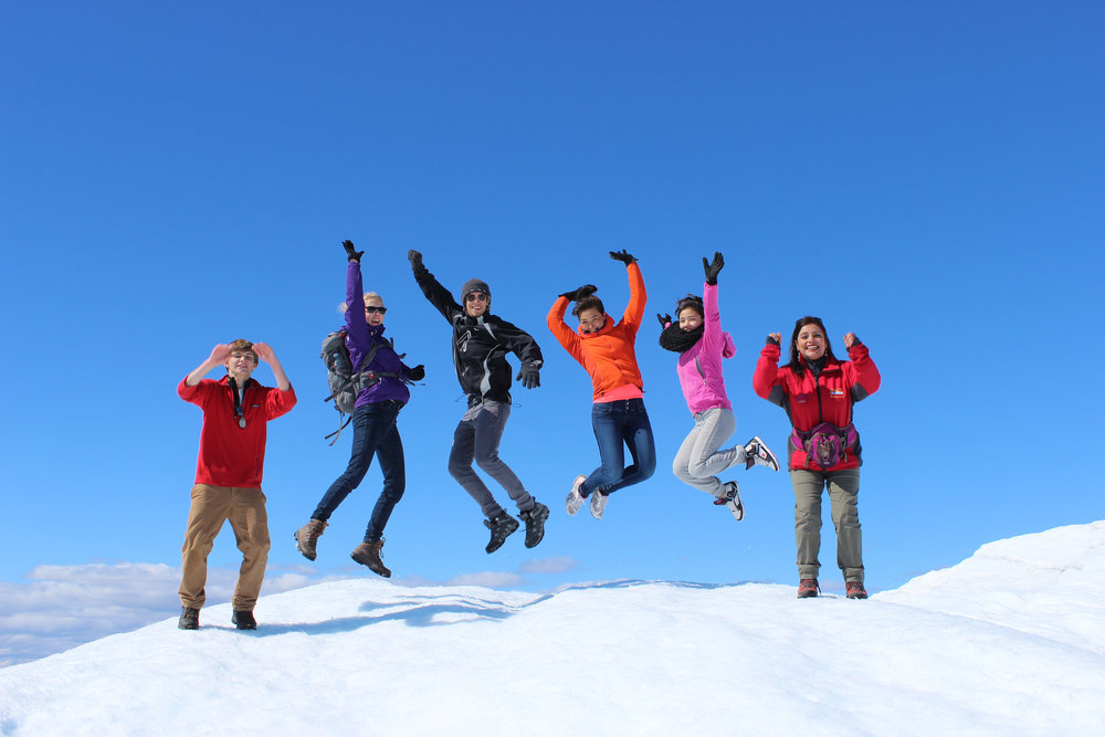 Jumping for JSEP in Greenland! Photo: JSEP 2105