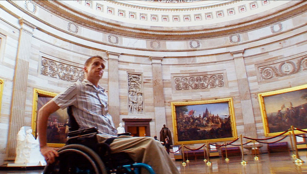 Tomas Young in the Capitol building, Washington, D.C., from the film 'Body of War'