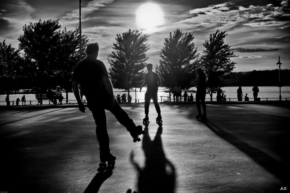 Roller Skating down at the waterfront - Hamilton Ontario, CANADA