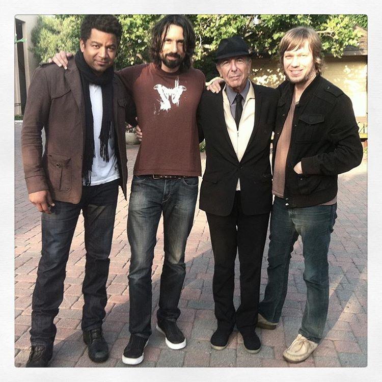 Leonard Cohen, Deron Johnson, Jason Falkner.jpg