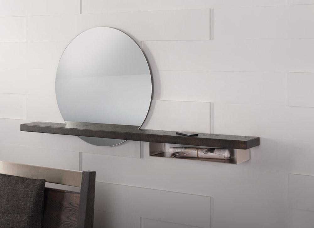 Halo Shelf and Mirror