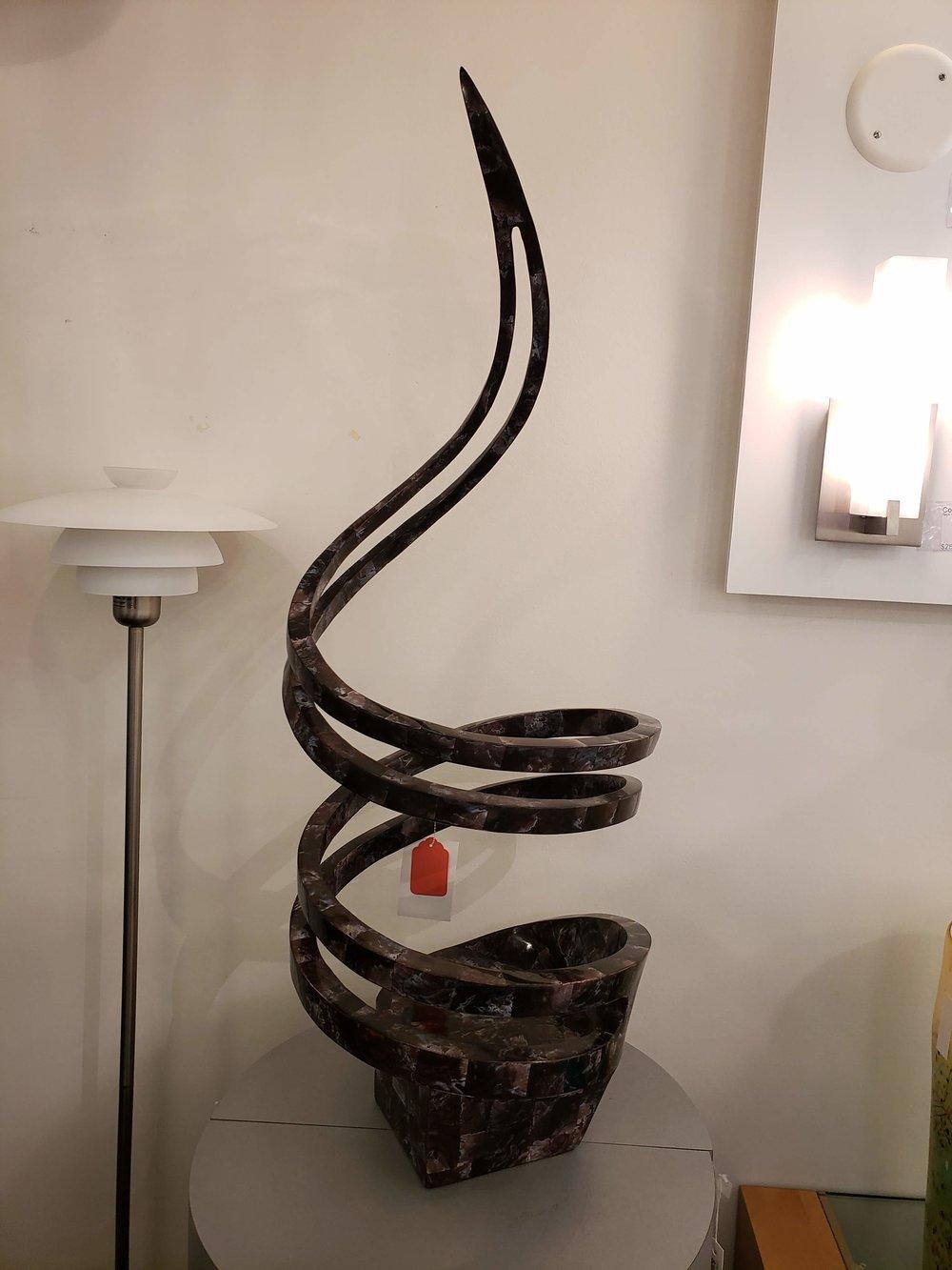 Violet Oyster Sculpture