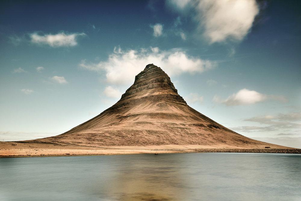 Majestic Kirkjufell mountain