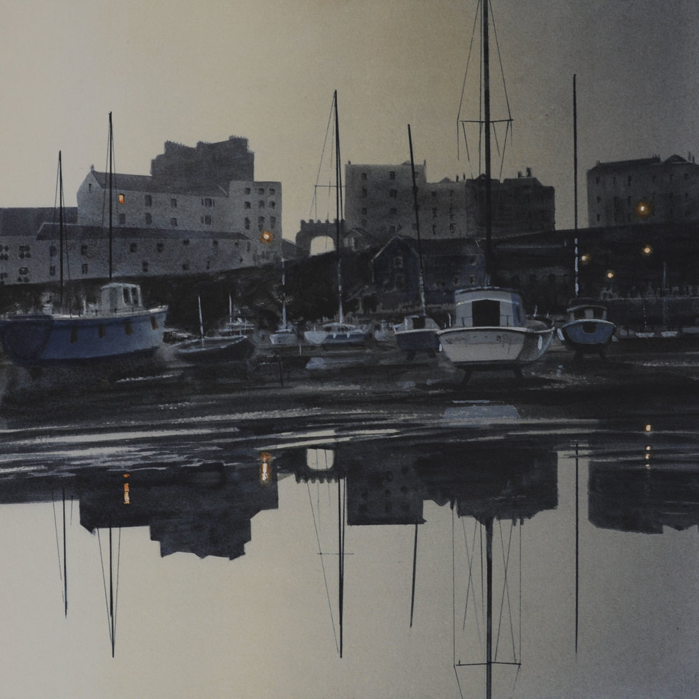 First Light, Tenby Harbour 7 x 7 in £50