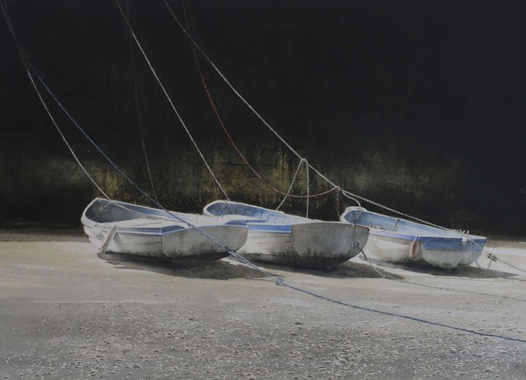 Three Dinghies, Tenby Harbour