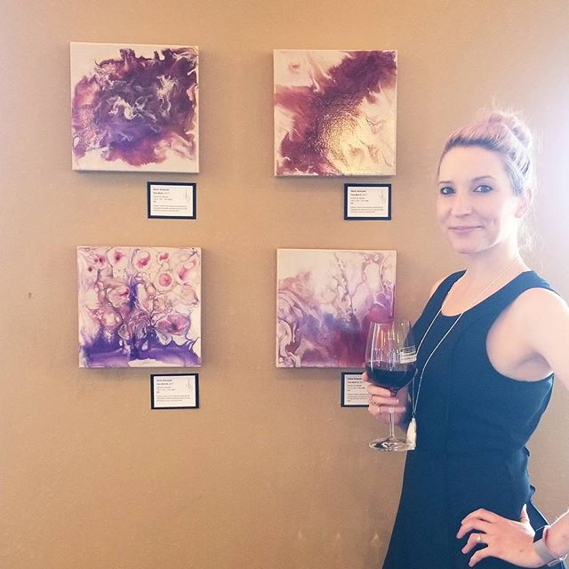 """Spilling Over"" is now OPEN!!! Come on by @DrumlinRidgeWinery between 5-7pm!! . . Can't make it out tonight? No problem! Show hours until end of the month!!!"