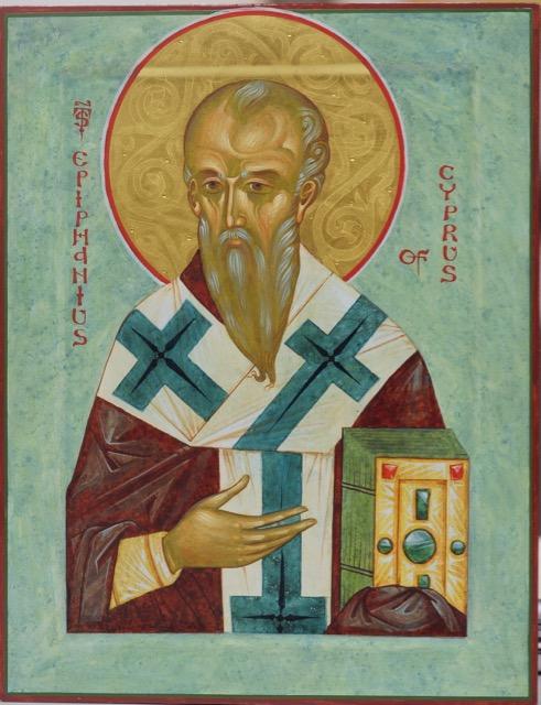 St Epiphanius of Cyprus, 17x22cm, 2016