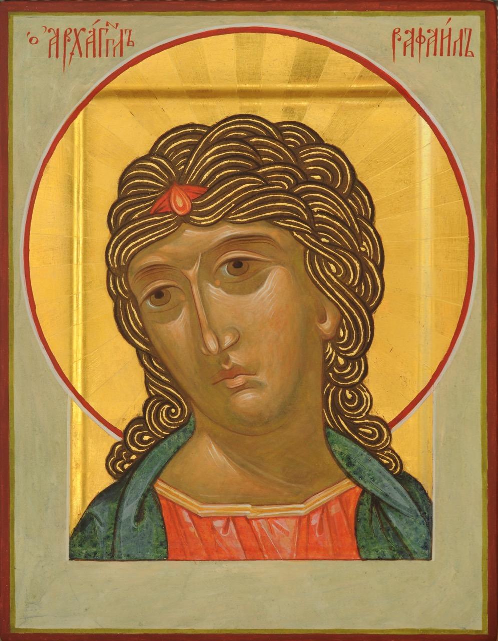Archangel Raphael, 18x23cm, 2015
