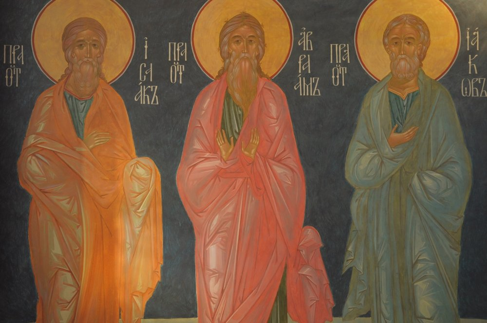The Three Patriarchs, al secco wall painting, 2009. Click  here  to view more from this project.