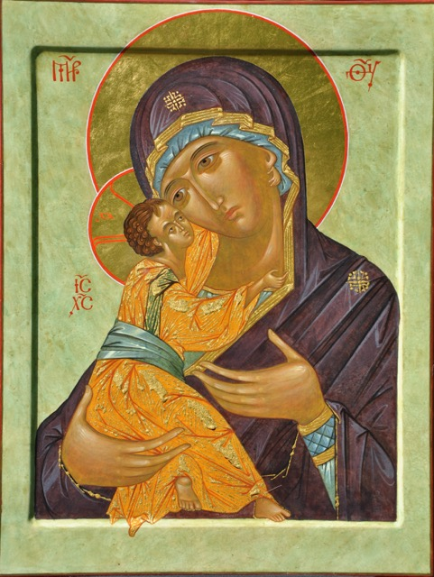 Vladimirskaya Mother of God, 14x17in, 2015